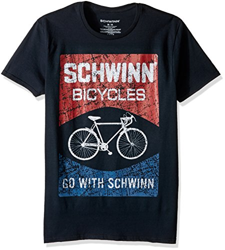 Schwinn Men's Classic Bicycle Short Sleeve Graphic T-Shirt, Black Go with Schwinn, X-Large