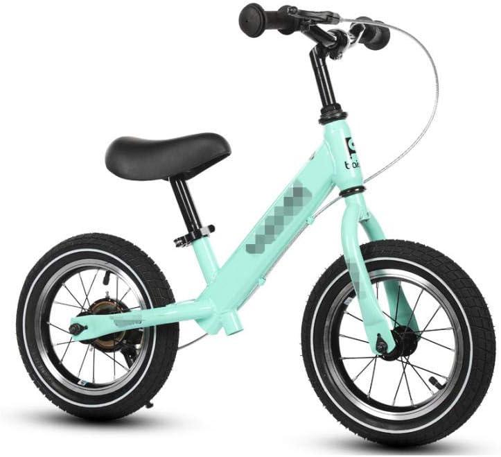 YSCYLY Bebé Bicicleta De Equilibrio,Sin Pedal para 2-8 años con Freno,La Rueda De Goma Inflable