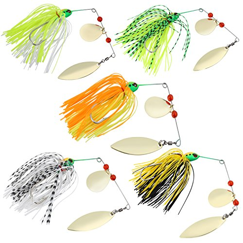 Sougayilang Fishing Lures Spinnerbait Lure for Bass Pike Fishing