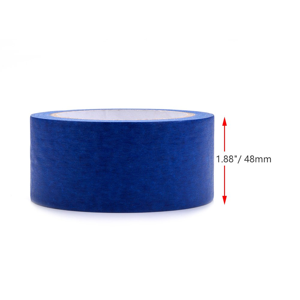 Professional Blue Painters Tape, FYSETC 1.88''/ 48mm Blue Masking Tape for Creality CR-10 10S S4 Ender 3 Glass Plate Tape 2090 Masking Tape, 30M/ 33 Yd by FYSETC (Image #3)