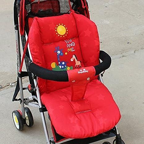 Edealing Cochecito de bebé Cojín Cesta Asiento del cojín del amortiguador Cochecito algodón grueso Mat coche de bebé