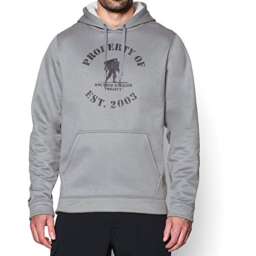 Under Armour Men's Storm WWP Property Of Hoodie, True Gray Heather /Black, XX-Large
