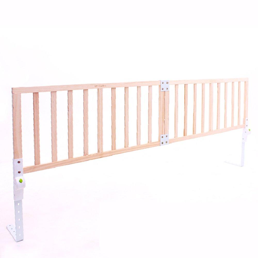 Bed Rails ZR Bed Rail \ Bed Guardrail Letto In Legno Massello Infrangibile Per Bambini Letto Pieghevole Per Bambini 1,8-2m Deflettore Pieghevole -Sicurezza (dimensioni   (98+98)41cm)