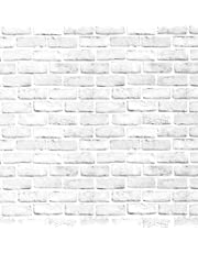 """White Brick Contact Paper Self-Adhesive Removable 3D Brick Wallpaper Peel and Stick Decorative Wall Covering Panel Interior Film Leave (Vintage Brick,17.3"""" X 118"""")"""