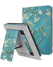 Fintie Hoes voor Kindle Paperwhite (Fits All-New 10th Generation 2018 / All Paperwhite Generations) –Premium PU-leer Stand Protective Cover met Kaartsleuf en Handband, Blossom