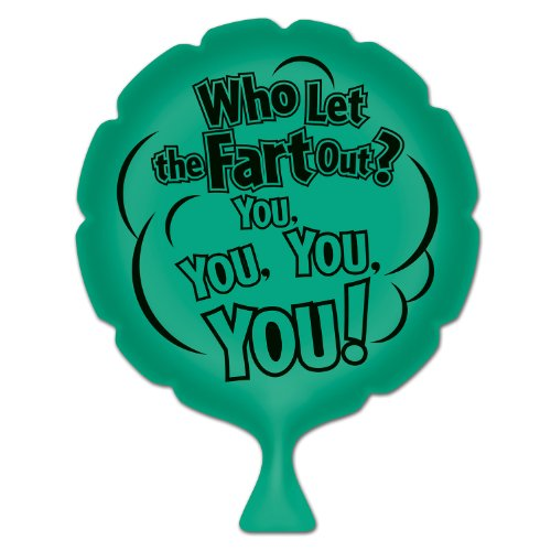 Beistle 54258 Who Let The Fart Out Whoopee Cushion, 8-Inch]()