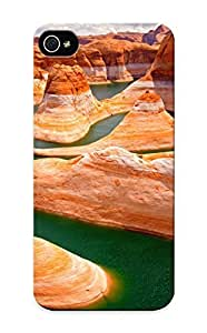 Blackducks Case For Sam Sung Note 4 Cover Well-designed Hard Case Cover Nature Landscapes Deserts Cliffs Rock Water Contrast Colors Sky Clouds Canyon Plants Vegetation Limestone Stone Scenic View Protector For New Year's Gift