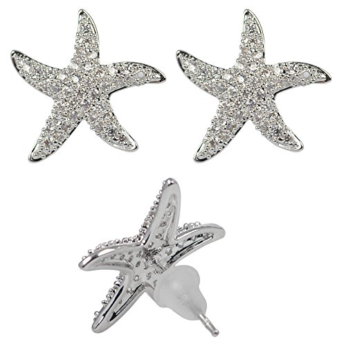 DongStar Fashion Jewelry Austrian Crystal Seastar Fish Star Earrings (Austrian Crystal Fish)