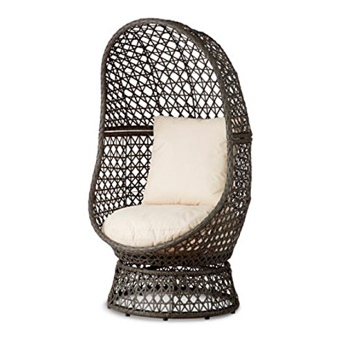 Resin Wicker Swivel Chair (Resin Chair Pad)