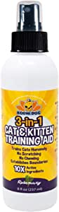 Bodhi Dog 3-in-1 Cat & Kitten Training Aid with Bitter | Cat Repellent Spray for Indoor and Outdoor Use | Anti Scratch Furniture Protector | Establish Boundaries & Keep Cat Off | Made in the USA | 8oz