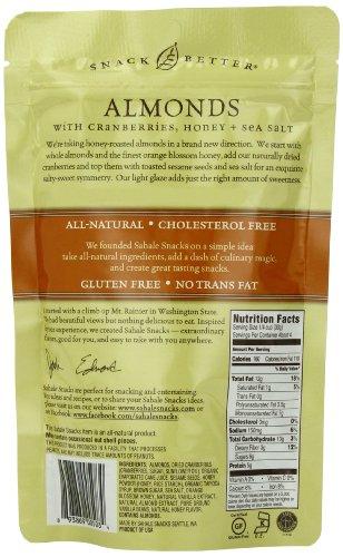 Sahale Snacks Honey Almonds Glazed Mix, 4 Ounces (Pack of 6)