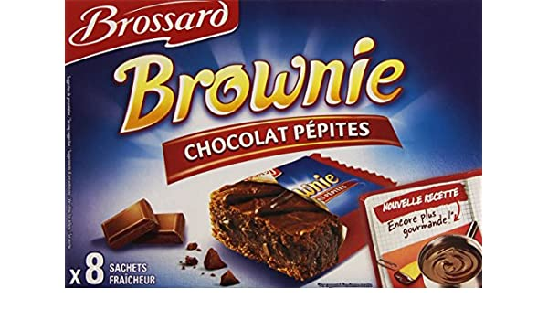 BROSSARD - BROSSARD - 8 Mini brownies pépites chocolat 40g: Amazon.es: Alimentación y bebidas