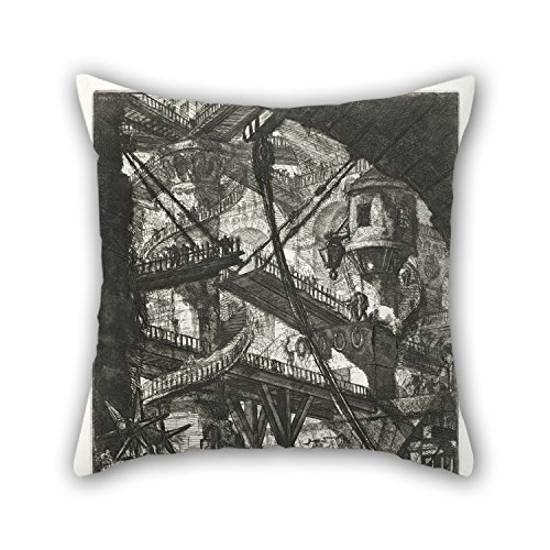Slimmingpiggy Oil Painting Giovanni Battista Piranesi - The Drawbridge, Plate VII From The Series Carceri D'Invenzione Cushion Cases 16 X 16 Inches / 40 By 40 Cm Best Choice For Home Theater,office (Iceland National Costume For Boys)