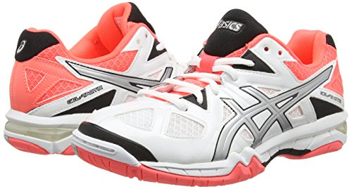 Asics Flash Damen Weiß Coral Volleyballschuhe Silver Tactic 0193 Gel White 00xE1rAq