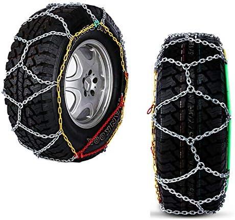 携帯用緊急牽引車のスノータイヤの滑り止めの鎖 7×17.5 タイヤチェーン *2pcs 金属スノーチェーンジャッキアップ気にしないでください TPUバンおよび軽トラック用ユニバーサルフィットタイヤ繰り返し使用 (Size : 7×17.5)