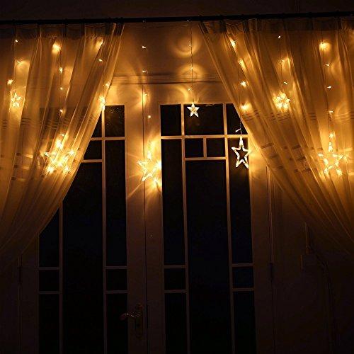 Goodid guirnalda luminosa de 12 estrellas 2 metros 60 - Bombilla led parpadea ...
