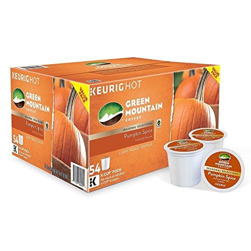 - Green Mountain Pumpkin Spice Coffee K-cup Keurig Hot Light Roast (54)
