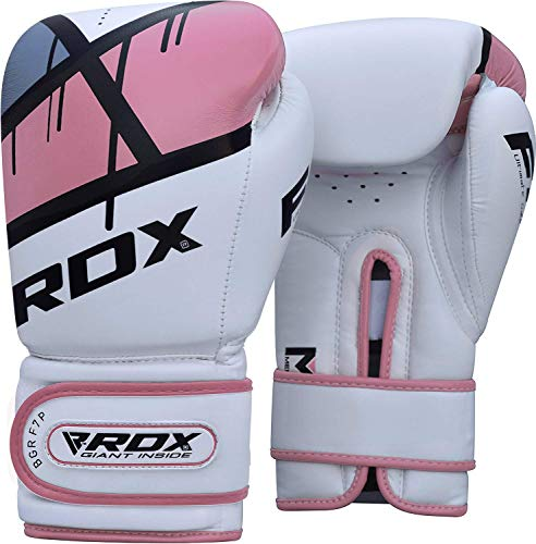 RDX Women Boxing Gloves Maya Hide Leather Gel Sparring Glove Punching Bag Ladies Mitts Training Muay Thai F7