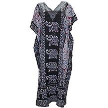 Odishabazaar Kaftan Tunic Kimono Dress Ladies Summer Women Evening Maxi Party One Size