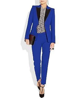 d32595ebadc Women's Suits Slim 2 Pieces Blazer One Button Tuxedo Pants & Jacket ...
