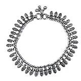 925 Sterling Silver oxidized Anklet Vintage bracelet 10''1 pair 57.26 g