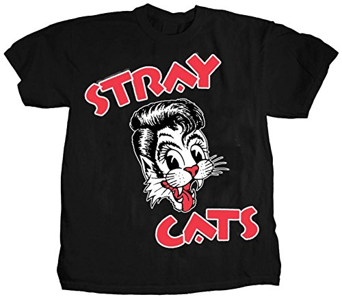 (Stray Cats-Cat Head Logo T-Shirt Size)
