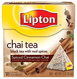 Lipton Chai Tea Pyramids, Spiced Cinnamon 18 ct