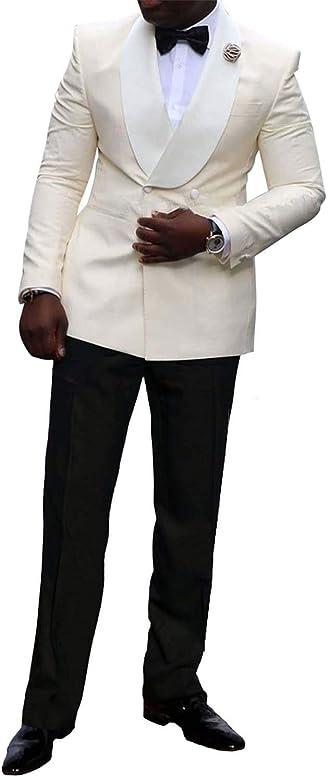 CALVINSUIT Hombre Traje de Hombre Formal 2 Piezas Trajes Slim Fit ...