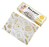 Gentle Meow 50 Sheets Sandwich Burger Donut Oil-proof Wrapping Paper With Box, Stamp Pattern