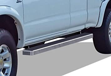 Running Board Side Step Nerf Bars 5in Silver Fit Toyota Tacoma Xtra Cab 95-04