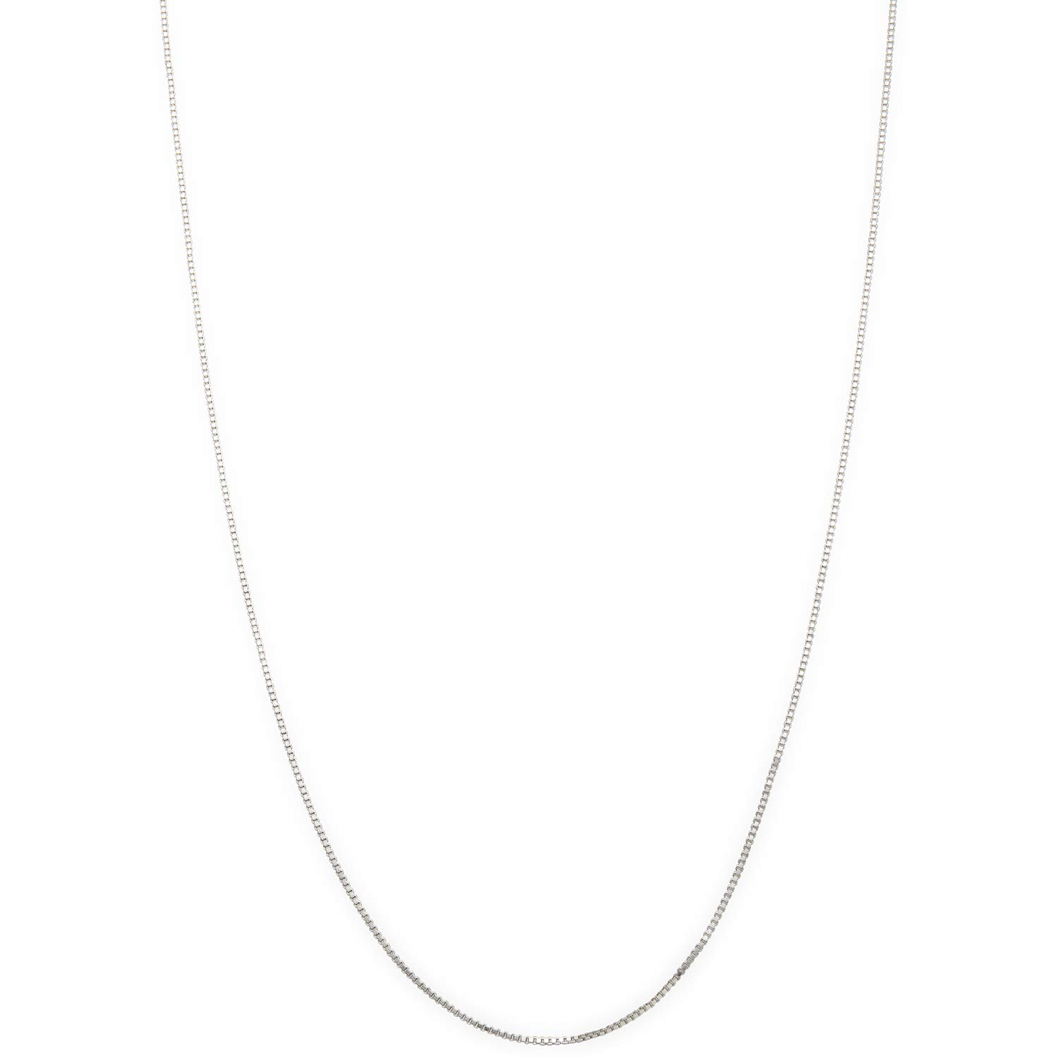 14-24 Lengths .925 Sterling Silver 1mm Replacement Box Link Chain Necklace
