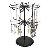MyGift Black Metal Jewelry Organizer Tower Necklace