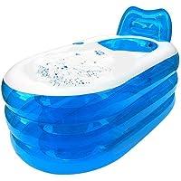 Baignoire gonflable de spa I-Shop pliable durable adulte avec pompe à air électrique (bleu)