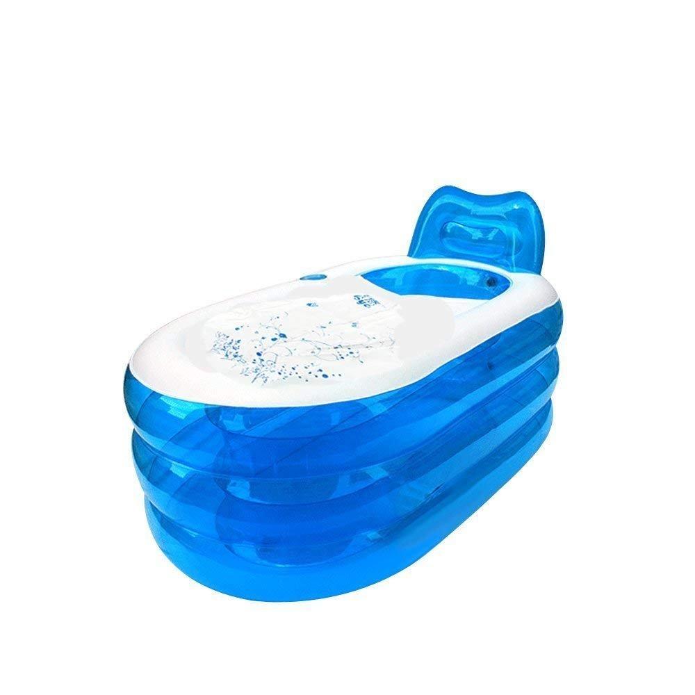 i-Shop faltbares stabiles Spa, aufblasbare Badewanne mit elektrischer Luftpumpe fü r Erwachsene, in blau