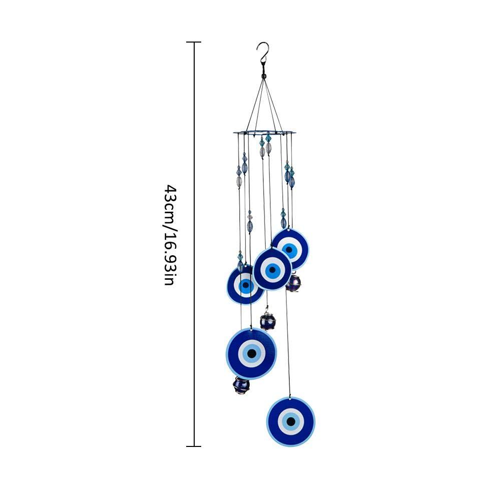 fllyingu 43cm Carillon ext/érieur de Jardin Porche Jardin Cloche /à Vent d/écorative /à Suspendre en Alliage de Fer avec Son Naturel pour terrasse Jardin Balcon ext/érieur