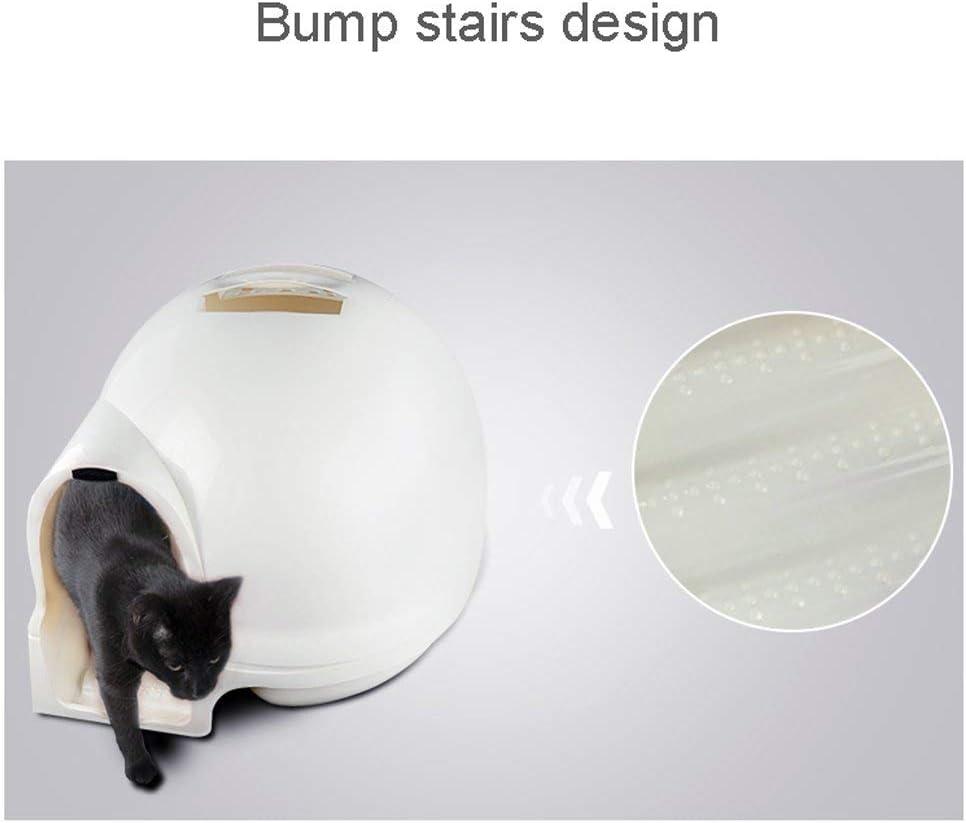 ACZZ Classic Space Ball, bandeja de arena para gatos, inodoro para gatos, escalera de caracol, extra grande, a prueba de salpicaduras, desodorizante, cerrado, suministros para mascotas: Amazon.es: Bricolaje y herramientas