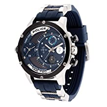 Police Men's PL14536JSTB03P Casual Adder Multifunction Watch with 3 Hands Date