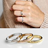 Personalized Stacking Ring Stackable Rings Coordinates Ring Engraved Ring Personalized Ring Inspiration Ring Name Ring - R4