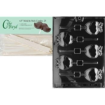 Apple Lollipop Chocolate /& Soap Mold F001