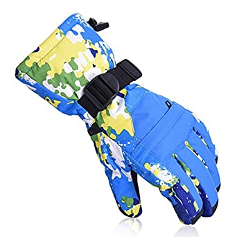Winter Sport Gloves Waterproof Warm Snowmobile Ski Snowboard Gloves Hiking Bicycle Cycling Mittens Snow Gloves Dometool
