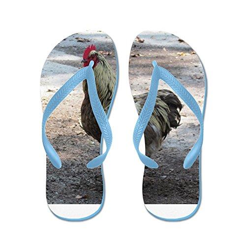 Cafepress Chicken - Tongs, Sandales Rigolotes, Sandales De Plage Bleu Caraïbes