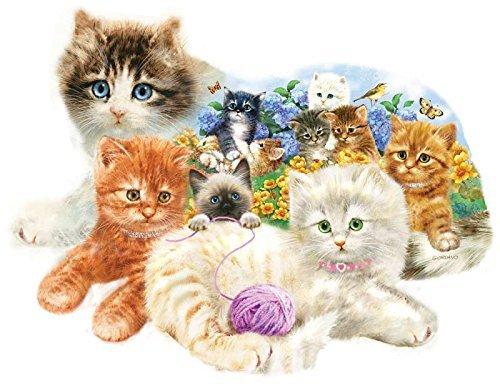 SunsOut A Litter of Kittens Shaped Jigsaw Puzzle (1000-Piece) by SunsOut