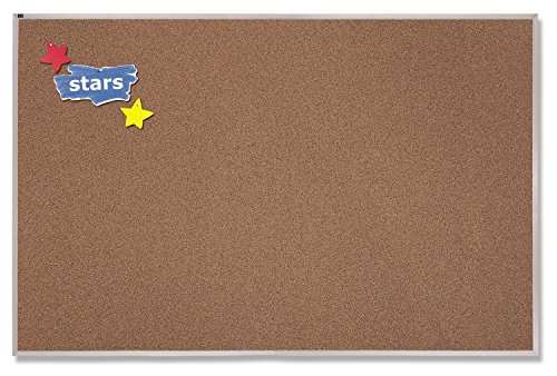 Premium Cork Board - Quartet 4 x 10 Feet Premium Color Cork Bulletin Board (PCKA410)