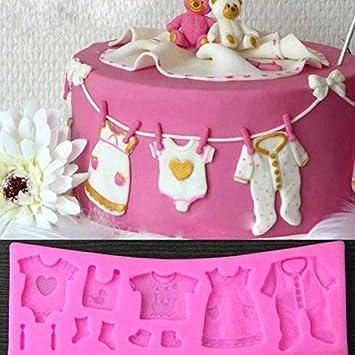 Eqlef Kuchenform Kinder Backform Silikon 3d Baby Kleidung Kuchenform