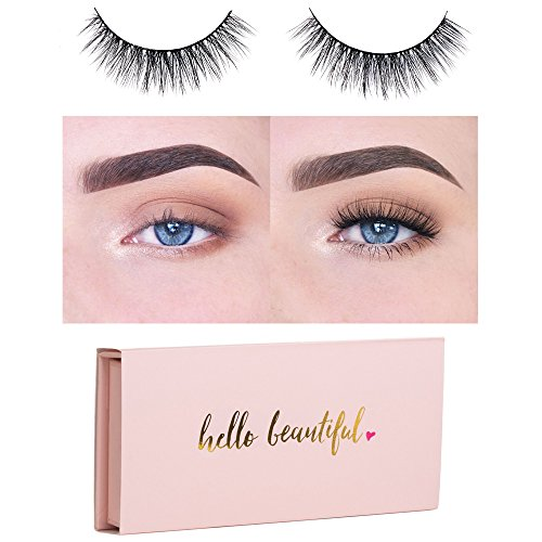 Icona Lashes Premium Quality False Eyelashes | Love Story | Fluffy and Universal for All Eyes | Non-Magnetic | Natural Look and Feel | Reusable | 100% Handmade & Cruelty-Free | Signature Packaging Lash False Eyelashes