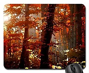 October Mouse Pad, Mousepad (Watercolor style) by icecream design