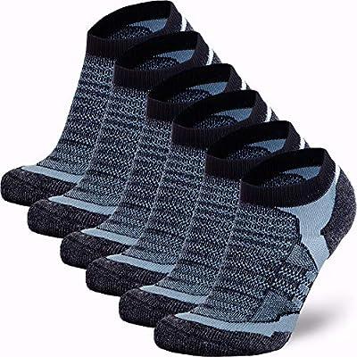 Women Moisture Wicking Low Cut Cushioned Athletic Running Sock Pure Athlete Merino Wool Socks Men