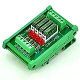 ELECTRONICS-SALON Slim DIN Rail Mount DC24V Sink/NPN 4 SPST-NO 5A Power Relay Module, PA1a-24V