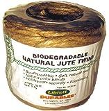 Librett Biodegradable Natural Jute Twine, 252 FT - 16oz - 5 Ply