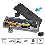 ShiZhen 10 inch Full screen 4G Touch IPS universal bundled Car Dash Cam Rear View Reversing Mirror with GPS Bluetooth WIFI Android 5.1 Dual Lens FHD 1080P